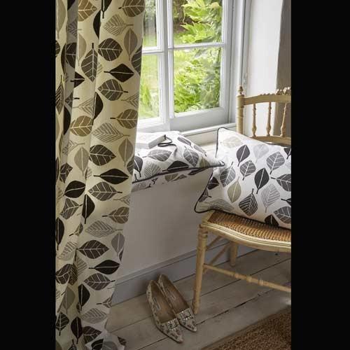 dekostoff bl tter in grau stoffe g nstig. Black Bedroom Furniture Sets. Home Design Ideas