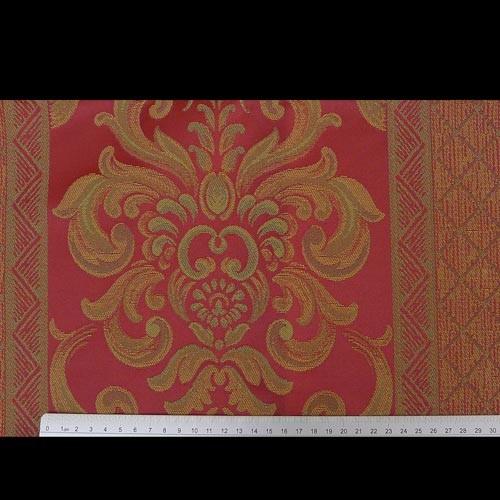 italienische stoffe polsterstoffe rot mit blumen. Black Bedroom Furniture Sets. Home Design Ideas