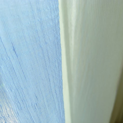 italienischer gardinenstoff farbe hellblau. Black Bedroom Furniture Sets. Home Design Ideas