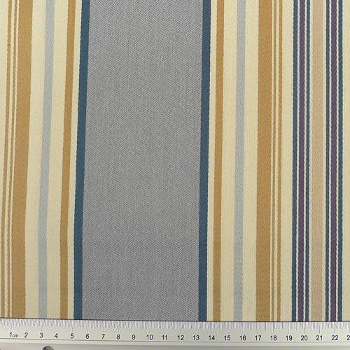 dekostoff mit trendigen streifen aquablau stoffe online. Black Bedroom Furniture Sets. Home Design Ideas