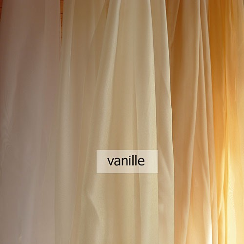 gardinenstoffe voile uni in wei creme vanille. Black Bedroom Furniture Sets. Home Design Ideas