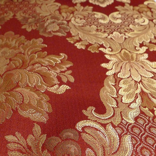 schwerer italienischer polsterstoff rot. Black Bedroom Furniture Sets. Home Design Ideas