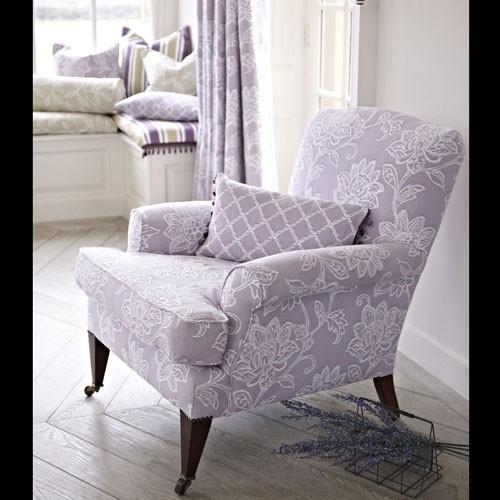 floral bestickter schwerer polster und m belstoff. Black Bedroom Furniture Sets. Home Design Ideas